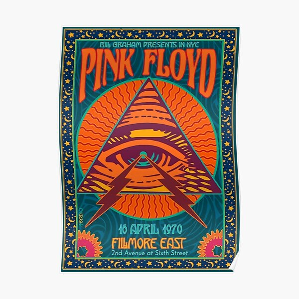 PINK FLOYD CONCERT AUTHENTIC POSTER NYC FILMORE EAST 1970 Poster