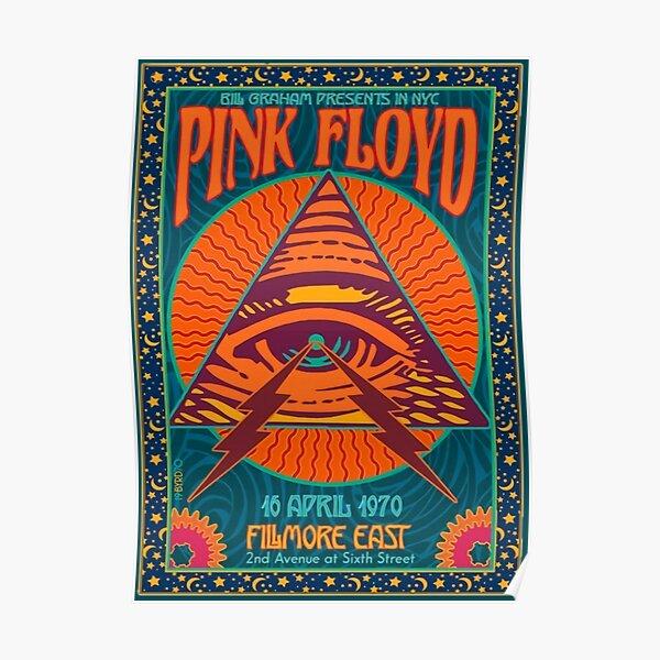 PINK FLOYD CONCIERTO AUTÉNTICO POSTER NYC FILMORE EAST 1970 Póster