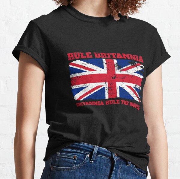 Rule Britannia with Union jack Classic T-Shirt