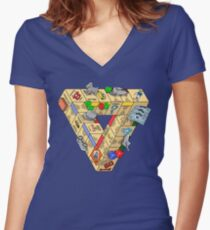 The Impossible Board Game Women's Fitted V-Neck T-Shirt