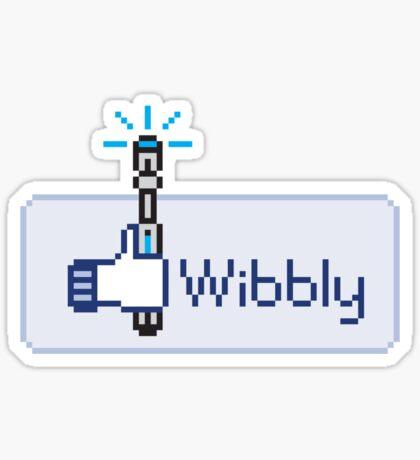 Wibbly Sticker