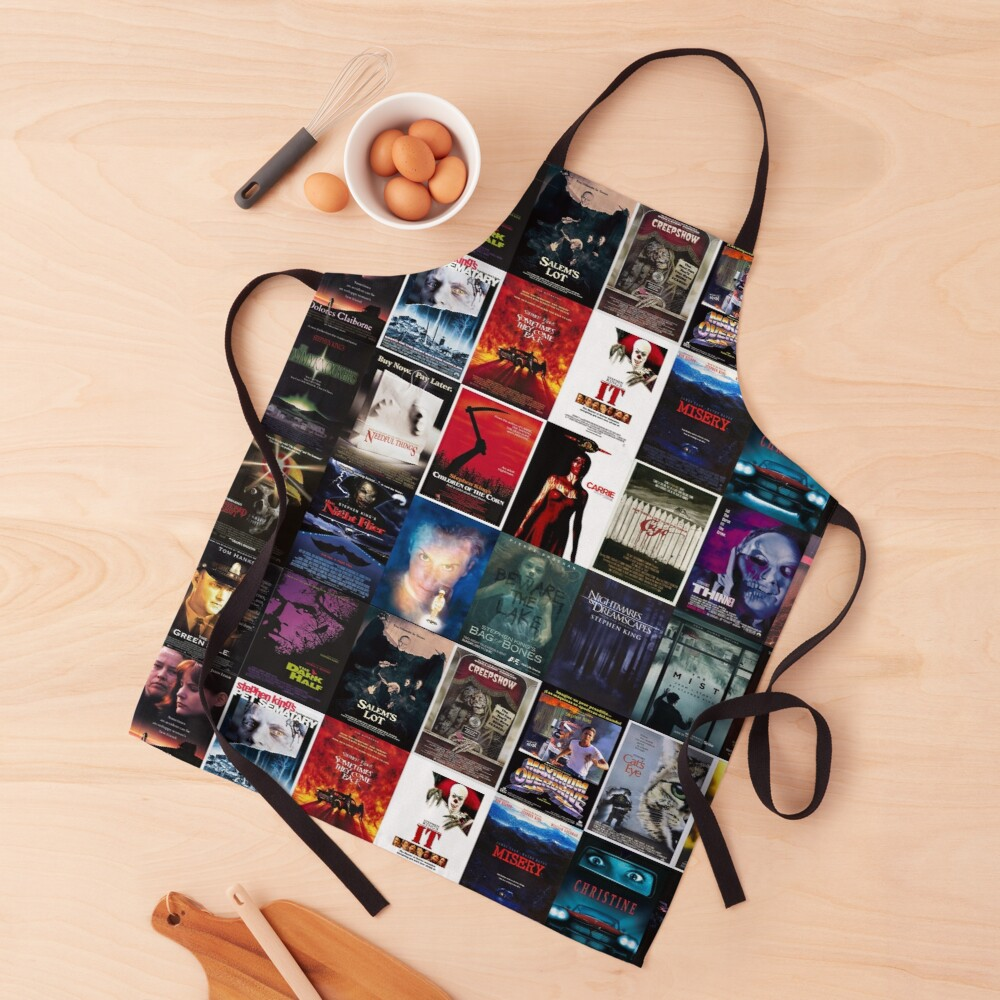 Stephen King movie posters collection Apron
