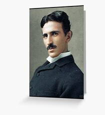 Nikola Tesla, ca. 1890 Greeting Card