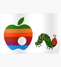 Very Hungry for Apple Poster