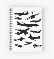 Plane Crazy Spiral Notebook
