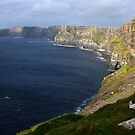 Cliffs of Moher in the Evening Sun I by Karin Funke