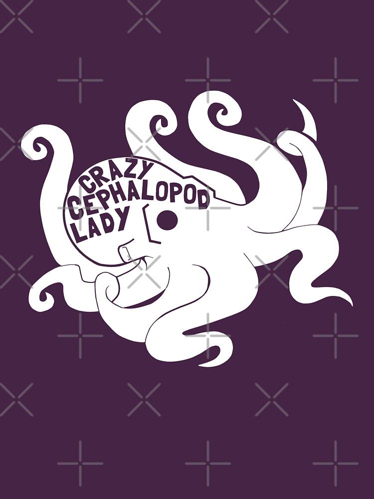 Crazy Cephalopod Lady Dark by AngryMongo