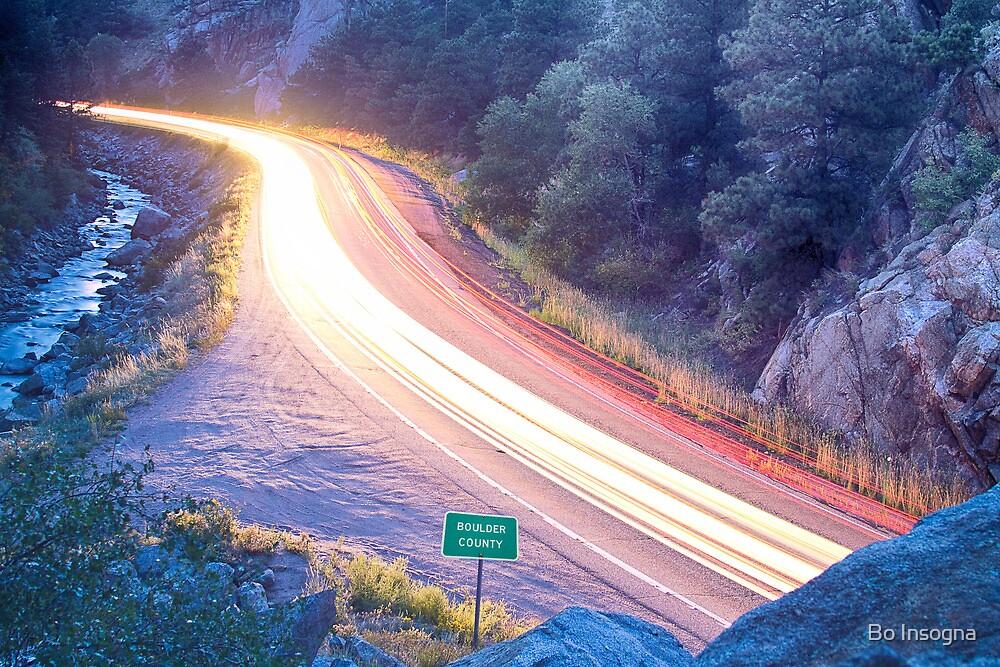 Boulder County Colorado Blazing Canyon View by Bo Insogna