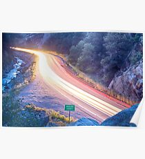 Boulder County Colorado Blazing Canyon View Poster