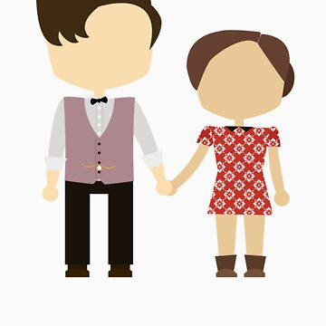 Eleventh Doctor and Clara Oswald by dbowkercreative