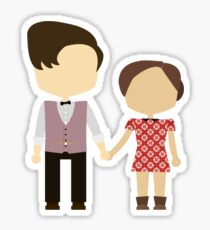 Eleventh Doctor and Clara Oswald Sticker
