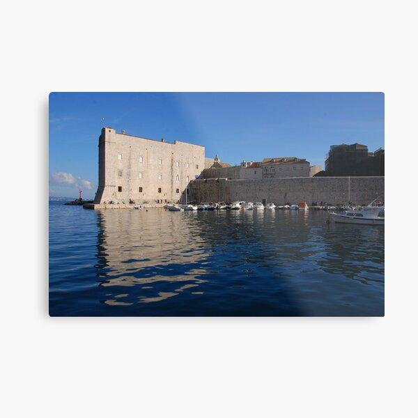 Dubrovnik, Ploce Harbour and St Ivan's fort Metal Print