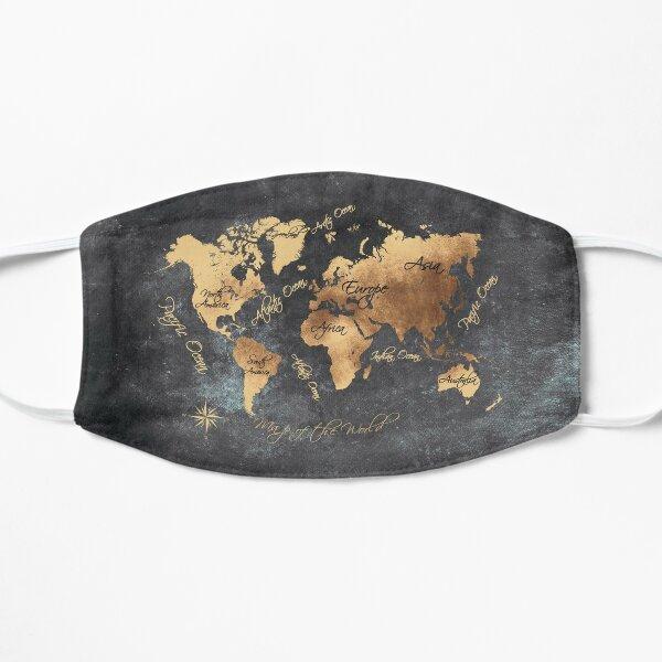 world map 147 gold black #worldmap #map Mask