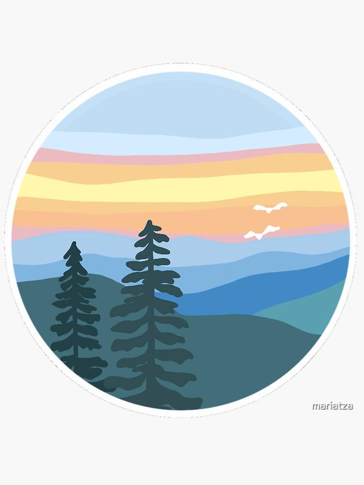 Mountain Sunset by mariatza