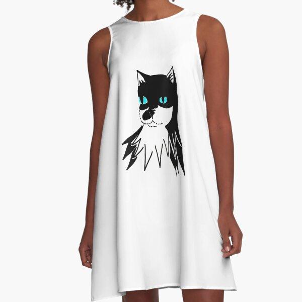 Bat Mills - turquoise eyes A-Line Dress
