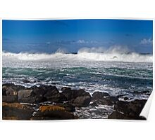 Wild surf at Pea Soup bay Poster