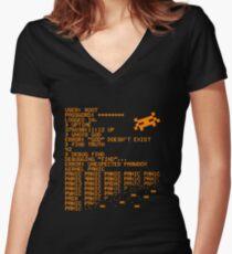 Kernel Panic! - orange Women's Fitted V-Neck T-Shirt