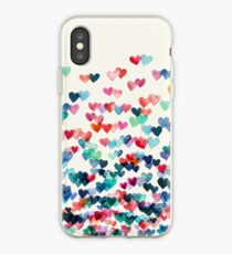 Heart Connections - Watercolor Painting iPhone Case