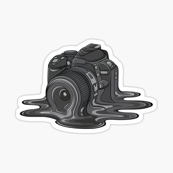Camera Melt Sticker