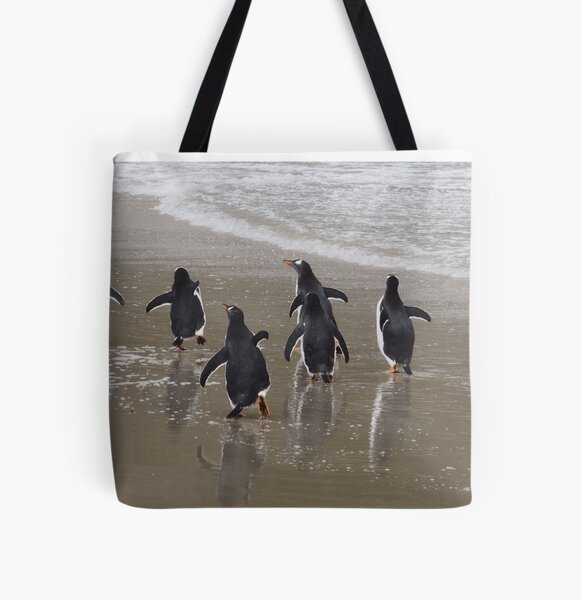 Penguin March All Over Print Tote Bag