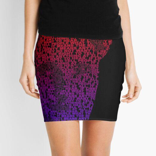Orwell - Red/Blue Mini Skirt