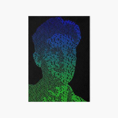 Orwell - Blue/Green Art Board Print