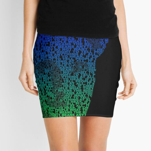 Orwell - Blue/Green Mini Skirt