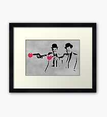 Laurel & Hardy Mashup Framed Print