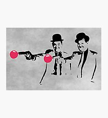 Laurel & Hardy Mashup Photographic Print