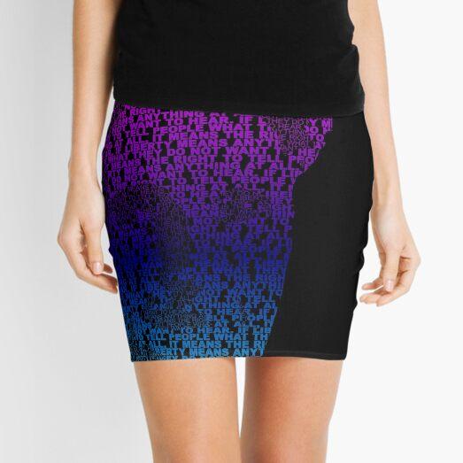 Orwell - Pink/Cyan Mini Skirt