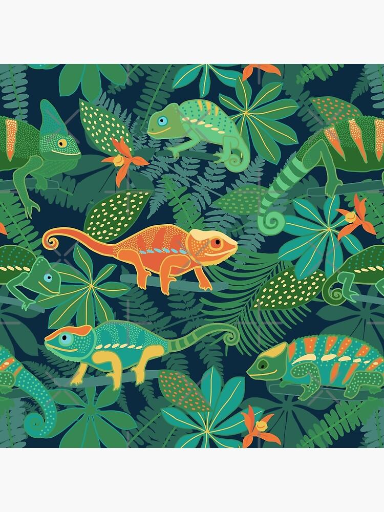 Chameleons in Jungle by nadyanadya