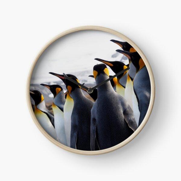Pride Of Penguins Clock
