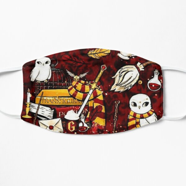 Magical Movie Character Red and Gold Pattern Mask