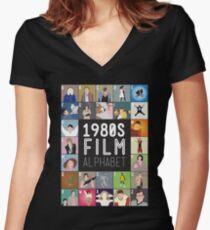 1980s Film Alphabet Tee Women's Fitted V-Neck T-Shirt