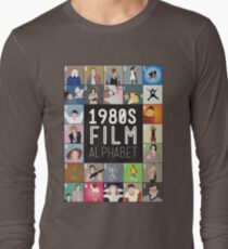 1980s Film Alphabet Tee Long Sleeve T-Shirt