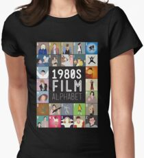 1980s Film Alphabet Tee Womens Fitted T-Shirt
