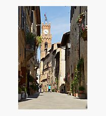 Pienza before the tourist buses Photographic Print