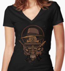 Fortune & Glory Women's Fitted V-Neck T-Shirt