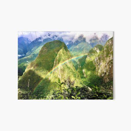 The rainbow over peru Art Board Print