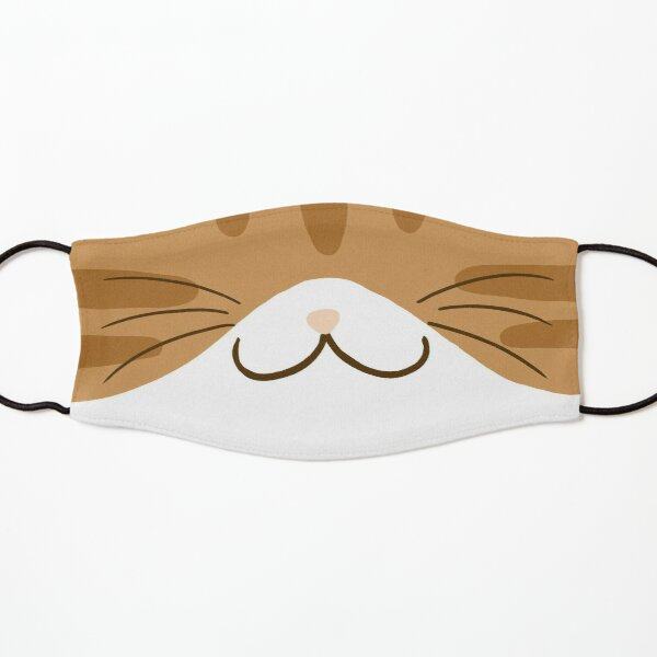 Orange and White Tabby Cat Mouth Kids Mask
