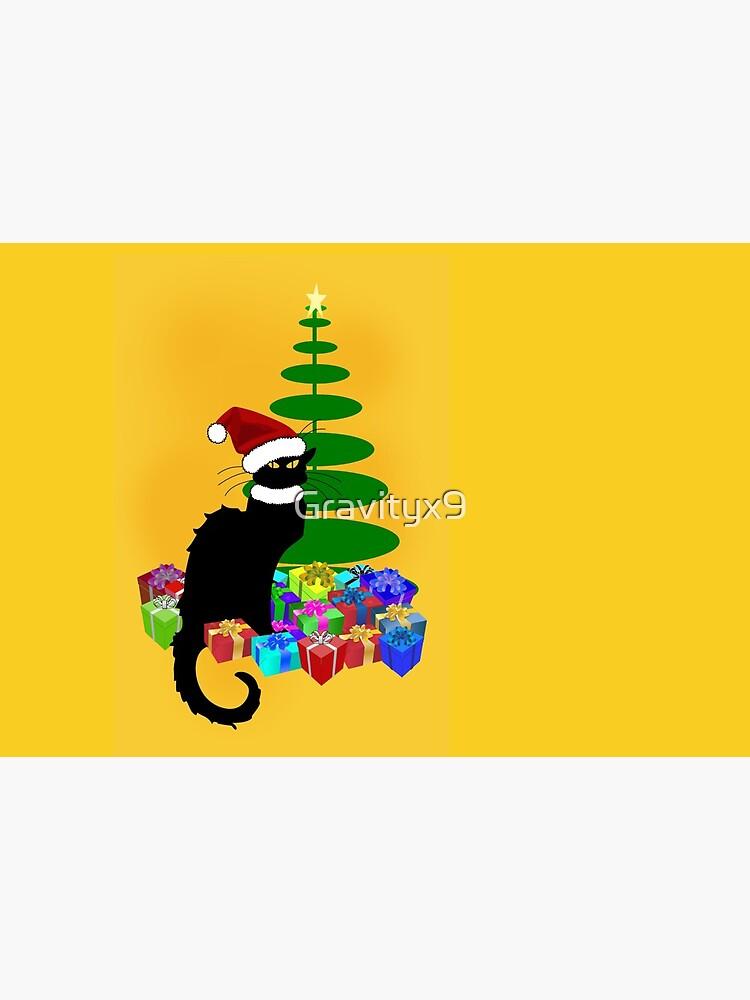 Weihnachten Le Chat Noir mit Weihnachtsmütze von Gravityx9