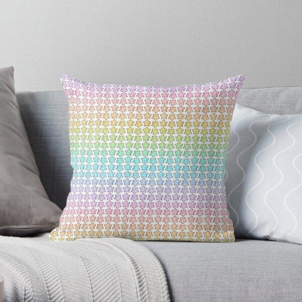 Rainbow Starfish Throw Pillow