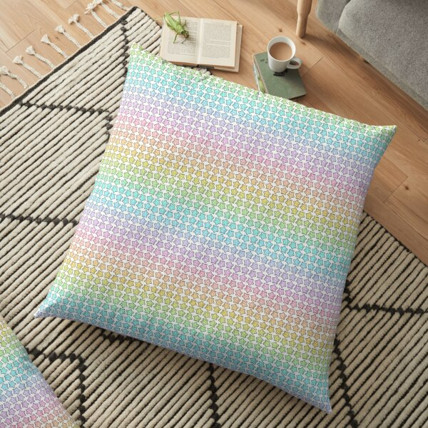 Rainbow Starfish Floor Pillow