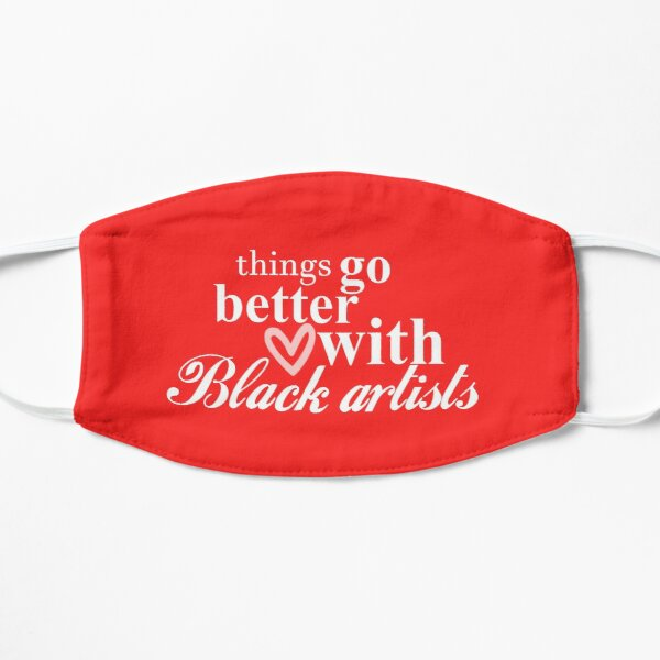 Black Artist Space Coke Logo Flat Mask