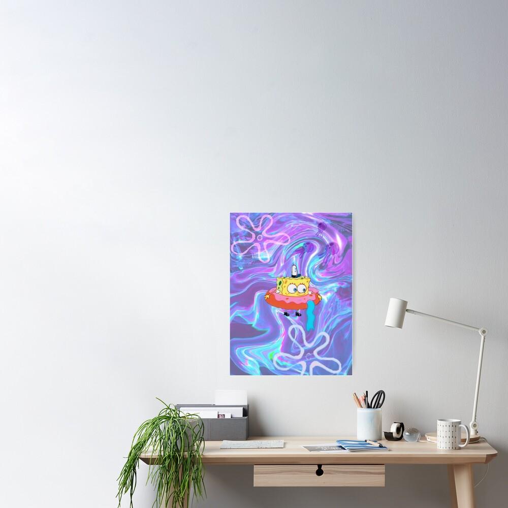 Psychedelic Donut Spongebob Tapestry Poster