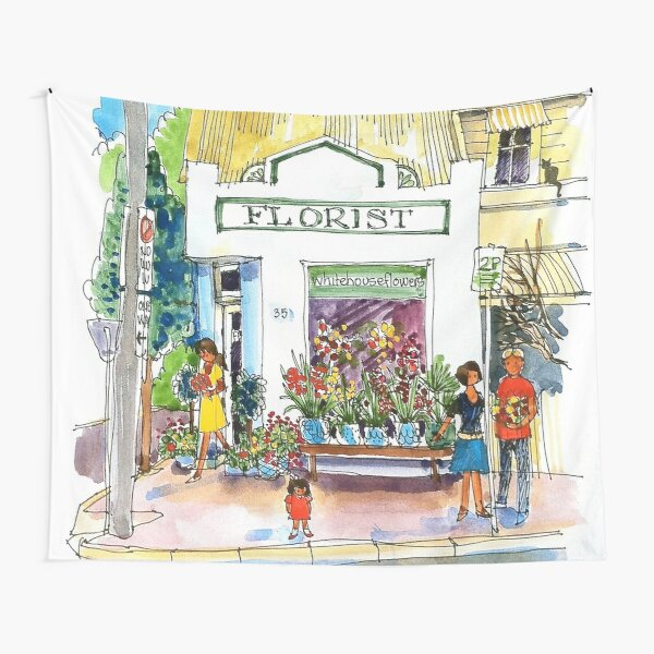The Old Florist Shop Tapestry