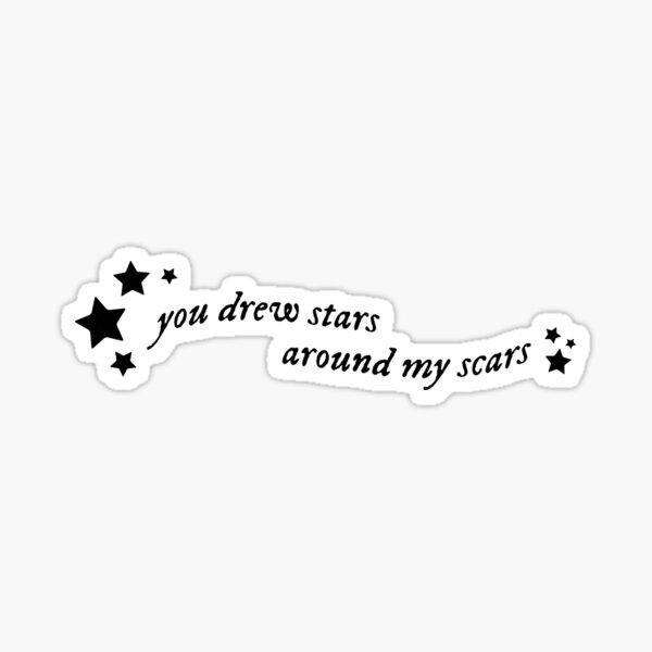 Cardigan Stars Black Lettering (Folklore) - Taylor Swift Sticker