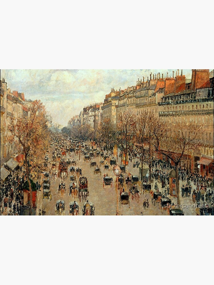 Camille Pissarro Streets of Paris Jigsaw Puzzle by stickersandtees