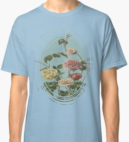 Vintage Tea Rose and Blush Roses Classic T-Shirt