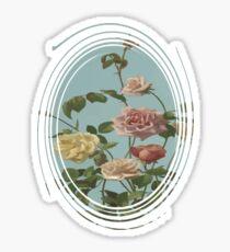 Vintage Tea Rose and Blush Roses Sticker